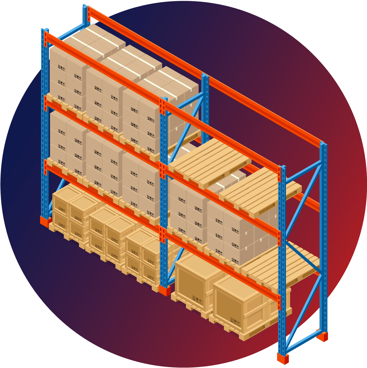Pile of Boxes Graphic Icon